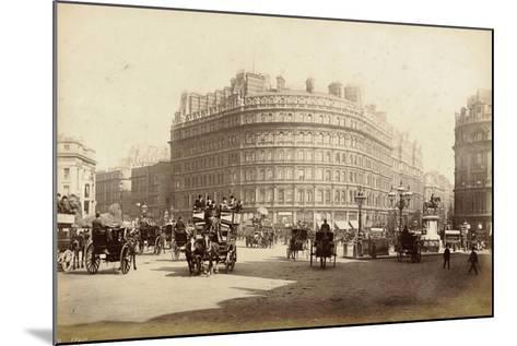 The Grand Hotel, Trafalgar Square, London, C.1885--Mounted Photographic Print
