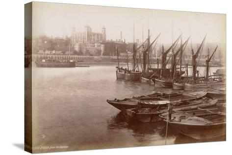 Tower of London from Horsleydown, London, C.1885--Stretched Canvas Print