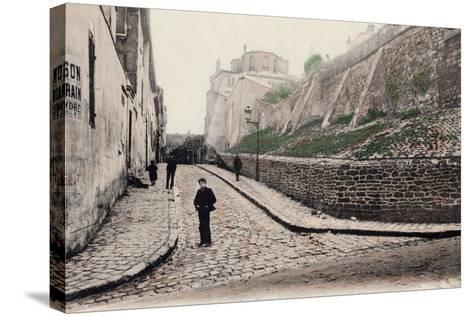 Rue Cortot, Old Montmartre, Paris, 1900--Stretched Canvas Print
