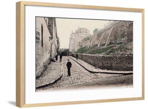 Rue Cortot, Old Montmartre, Paris, 1900--Framed Art Print