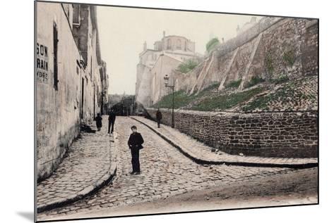 Rue Cortot, Old Montmartre, Paris, 1900--Mounted Photographic Print