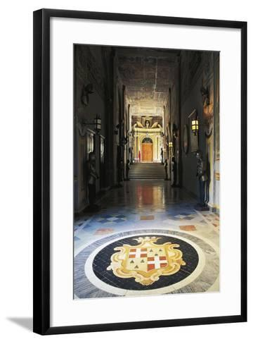 Medallion Depicting Coat of Arms, Grandmasters Palace, Valletta, Malta--Framed Art Print
