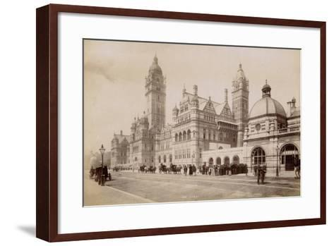 South Kensington Station, London, C.1885--Framed Art Print