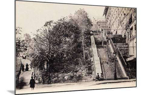 Rue Muller, Montmartre, Paris, 1890--Mounted Photographic Print