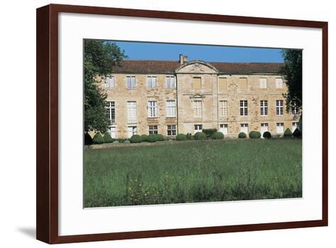 Lawn in Front of a Castle, Busca Maniban Castle, Midi-Pyrenees, France--Framed Art Print