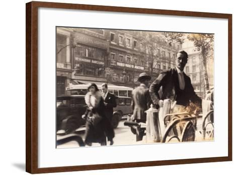 Café Passage, Paris, 1930--Framed Art Print