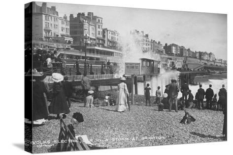 Volk's Electric Railway, Brighton--Stretched Canvas Print