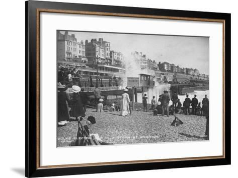 Volk's Electric Railway, Brighton--Framed Art Print
