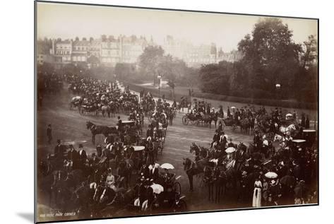 Hyde Park Corner, London, C.1885--Mounted Photographic Print