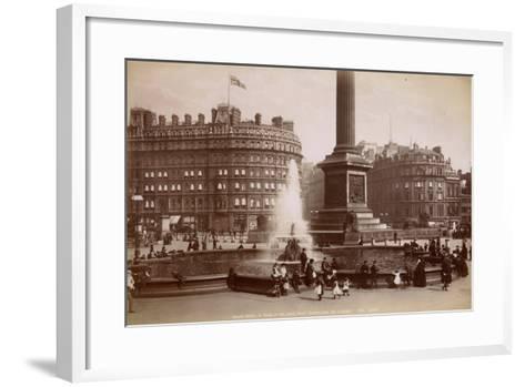 Trafalgar Square, London, C.1885--Framed Art Print