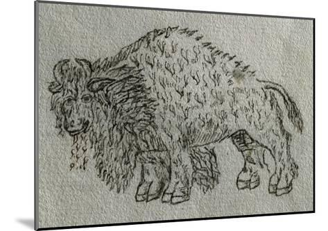 Bison, Drawing, 16th Century--Mounted Giclee Print
