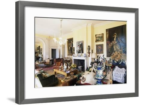 Hall in Chateau of Raissac, Beziers, Languedoc-Roussillon, France--Framed Art Print