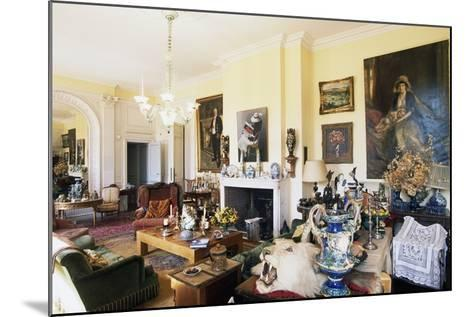 Hall in Chateau of Raissac, Beziers, Languedoc-Roussillon, France--Mounted Photographic Print