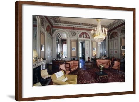 Hall of Chateau Marey-Monge, Chateau of Pommard, Burgundy, France--Framed Art Print