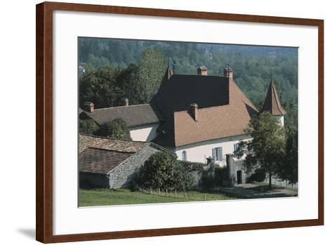 High Angle View of a Castle, Le Fayet Castle, Rhone-Alpes, France--Framed Art Print