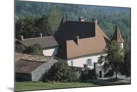 High Angle View of a Castle, Le Fayet Castle, Rhone-Alpes, France--Mounted Photographic Print
