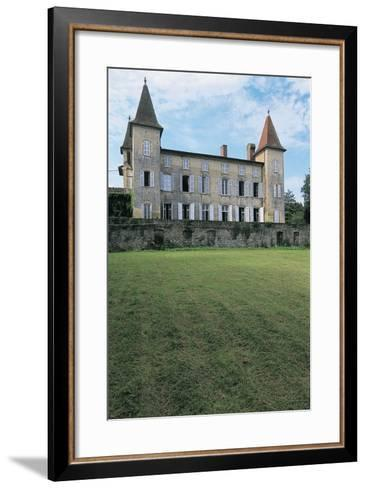Lawn in Front of a Castle, Miramont Latour, Midi-Pyrenees, France--Framed Art Print