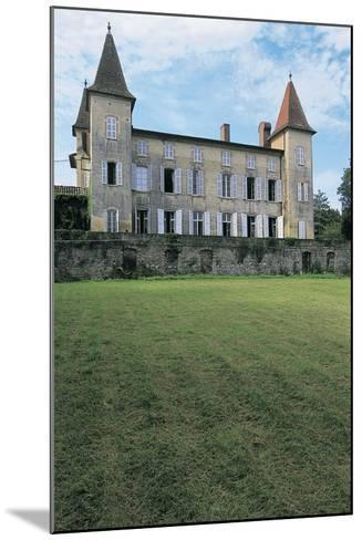 Lawn in Front of a Castle, Miramont Latour, Midi-Pyrenees, France--Mounted Photographic Print