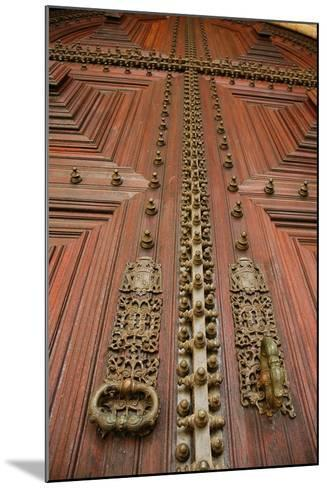 Portugal, Evora, Cathedral of Virgin Mary, Door, Detail--Mounted Photographic Print