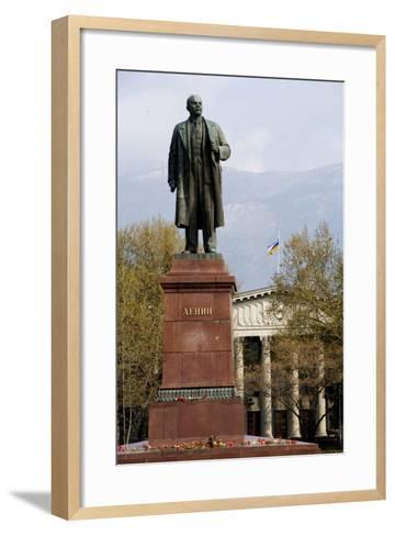 Statue of Lenin (1870-1924), Lenin Square, Yalta, Crimea, Ukraine--Framed Art Print