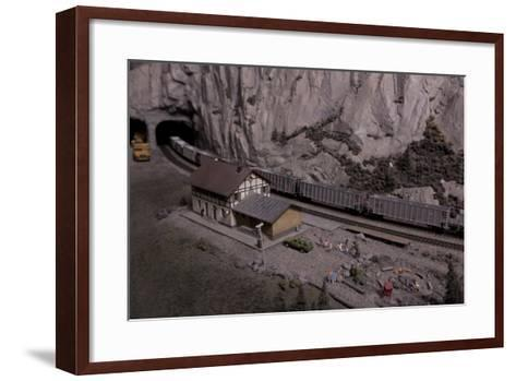The Great Train Story Exhibit at the Museum of Science and Industry--Framed Art Print