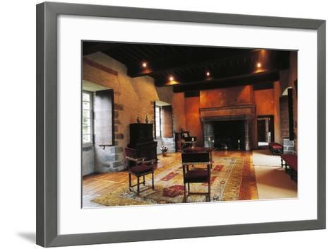 Hall of Chateau of Conros, Arpajon-Sur-Cere, Auvergne, France--Framed Art Print