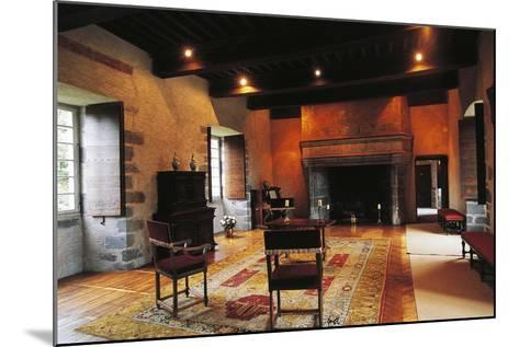 Hall of Chateau of Conros, Arpajon-Sur-Cere, Auvergne, France--Mounted Photographic Print