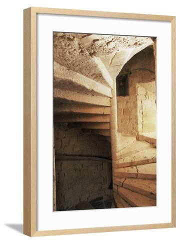 Spiral Staircase, Chateau of Flamarens, Midi-Pyrenees, France--Framed Art Print