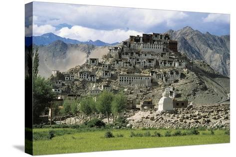 Lamaist Monastery of Thiksey, 15th Century, Ladakh, India--Stretched Canvas Print