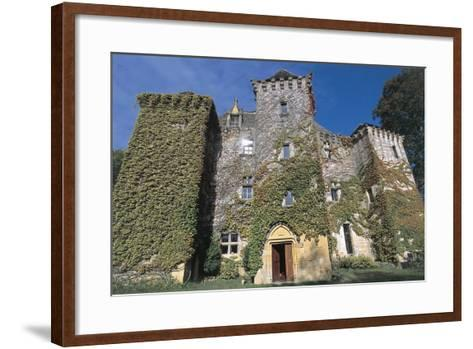 Low Angle View of a Castle, Castle of Faye, Poitou-Charentes, France--Framed Art Print