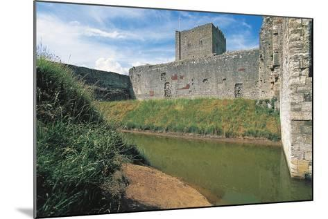 Moat and Walls of Portchester Castle, England, United Kingdom--Mounted Photographic Print