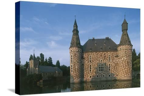 Low Angle View of a Castle, Jehay Castle, Wallonia, Belgium--Stretched Canvas Print