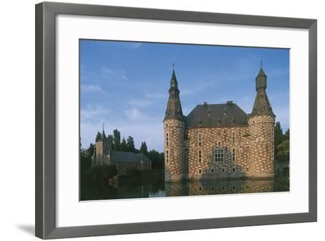 Low Angle View of a Castle, Jehay Castle, Wallonia, Belgium--Framed Art Print