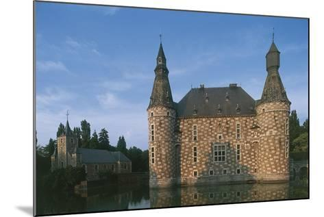 Low Angle View of a Castle, Jehay Castle, Wallonia, Belgium--Mounted Photographic Print