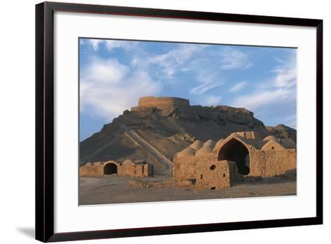 Tower of Silence and Zoroastrian Village, Near Yazd, Iran--Framed Art Print