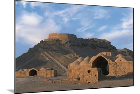 Tower of Silence and Zoroastrian Village, Near Yazd, Iran--Mounted Photographic Print