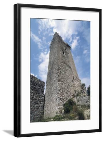 Visso Watchtower, Sibillini Mountain National Park, Marche, Italy--Framed Art Print