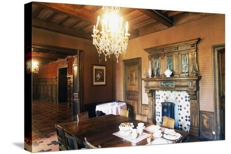 Dining Room of Chateau of Grezan, Languedoc-Roussillon, France--Stretched Canvas Print