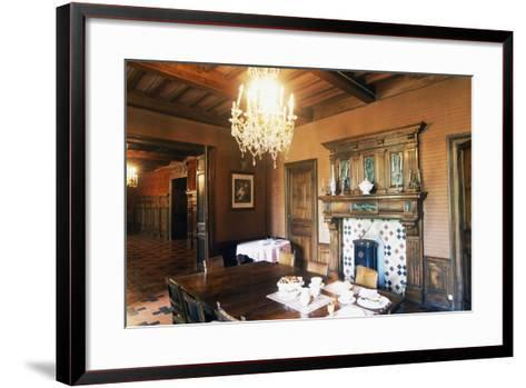 Dining Room of Chateau of Grezan, Languedoc-Roussillon, France--Framed Art Print