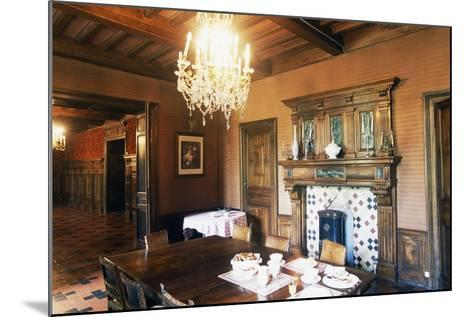 Dining Room of Chateau of Grezan, Languedoc-Roussillon, France--Mounted Photographic Print