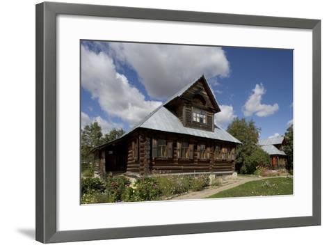 Wooden Houses, Traditional Buildings, Kideksa, Near Suzdal, Russia--Framed Art Print