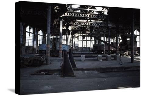 Interior of the Le Creusot Railway Workshops, Burgundy, France--Stretched Canvas Print
