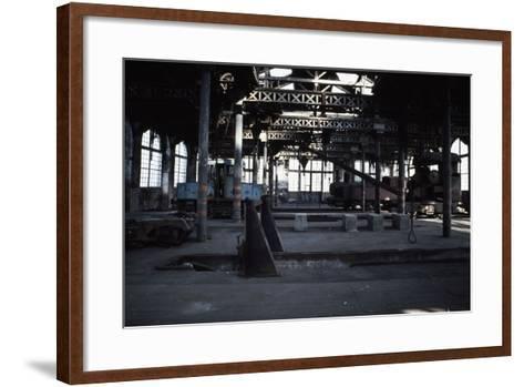 Interior of the Le Creusot Railway Workshops, Burgundy, France--Framed Art Print