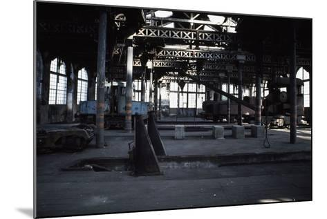 Interior of the Le Creusot Railway Workshops, Burgundy, France--Mounted Photographic Print