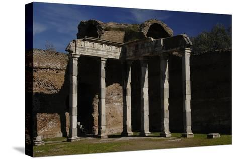 Hadrian's Villa, 2nd Century, Hall with Doric Pillars, Italy--Stretched Canvas Print