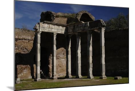 Hadrian's Villa, 2nd Century, Hall with Doric Pillars, Italy--Mounted Photographic Print