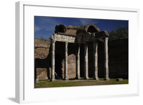 Hadrian's Villa, 2nd Century, Hall with Doric Pillars, Italy--Framed Art Print