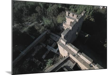 High Angle View of a Castle, Fallavier Castle, Rhone-Alpes, France--Mounted Photographic Print