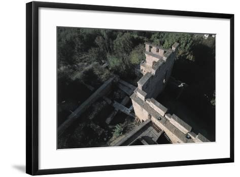High Angle View of a Castle, Fallavier Castle, Rhone-Alpes, France--Framed Art Print