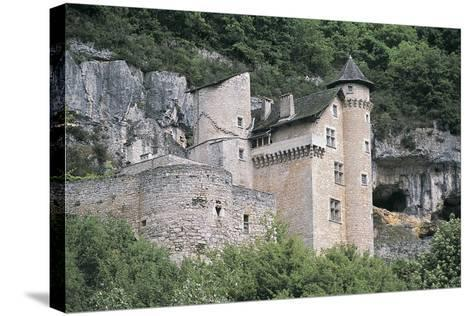Low Angle View of a Castle, Larroque-Toirac, Midi-Pyrenees, France--Stretched Canvas Print